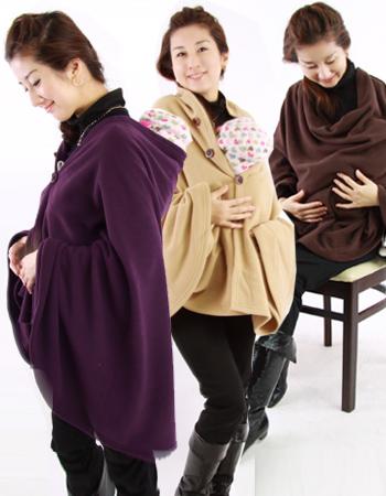 【ママコート・授乳ケープ】魔法のポンチョ(おんぶ・抱っこ、授乳ケープ等)