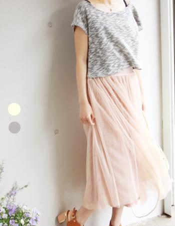 4way・リバーシブルチュールスカート・セットアップワンピ(授乳服&マタニティ)~上下セット、ロイヤルコレクション