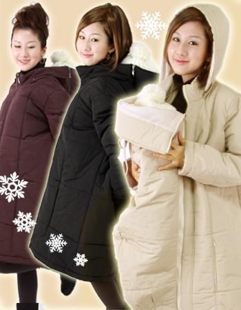 <ママコート>ビューティ☆中綿3Wayママコート(おんぶ、抱っこ対応)♪送料無料商品♪