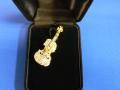 バイオリン ゴールド ブローチ