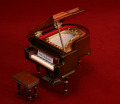グランドピアノ 9cm 茶