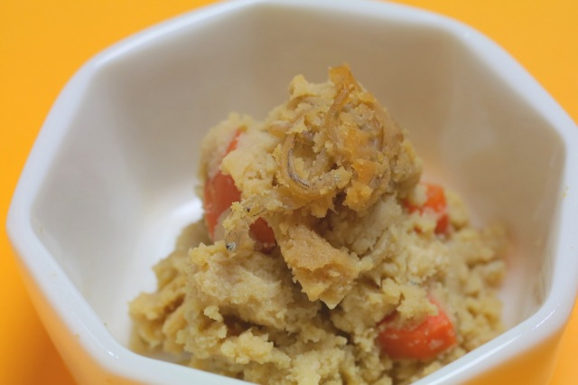 【有機豆乳炊き】自家製有機おからとじゃこ煮