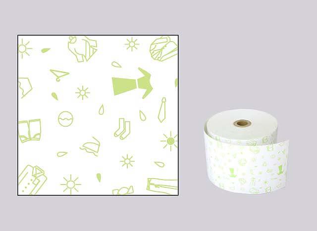 ファンシーレジ用紙 クリーニング 緑 (58mm) 8巻入