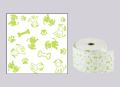 ファンシーレジ用紙 犬 緑 (58mm) 8巻入