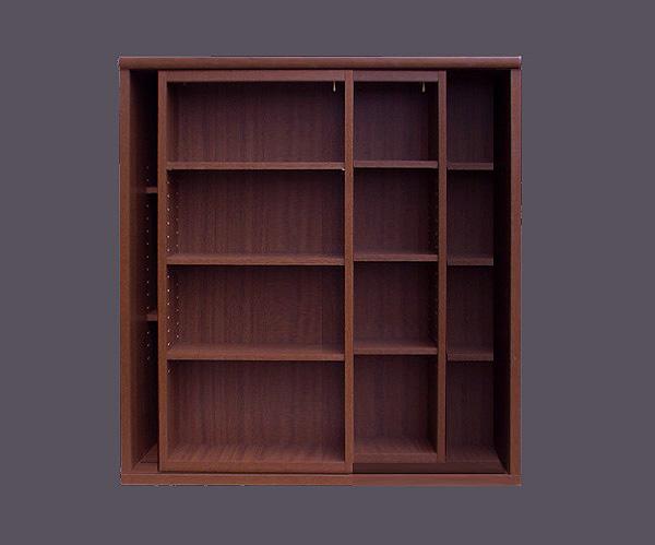 スライド書棚 = 90cm幅・3重スライド [国産・完成家具][送料無料]