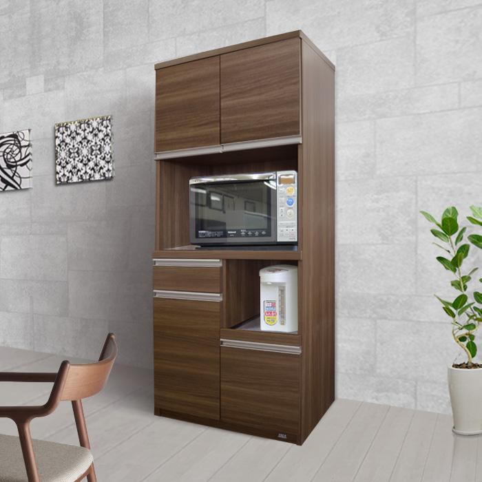 キッチンボード[ジュジュ] ステンレストップ 幅73cm = リアルで高級感あふれる木目!熱・汚れに強いステンレストップ!
