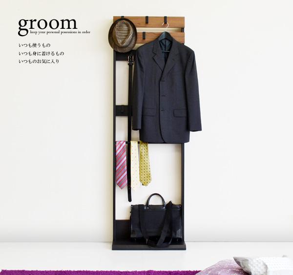 壁面パネル型収納2段[グルーム]=いつも使うものをひとまとめ。朝の身支度が早くなる