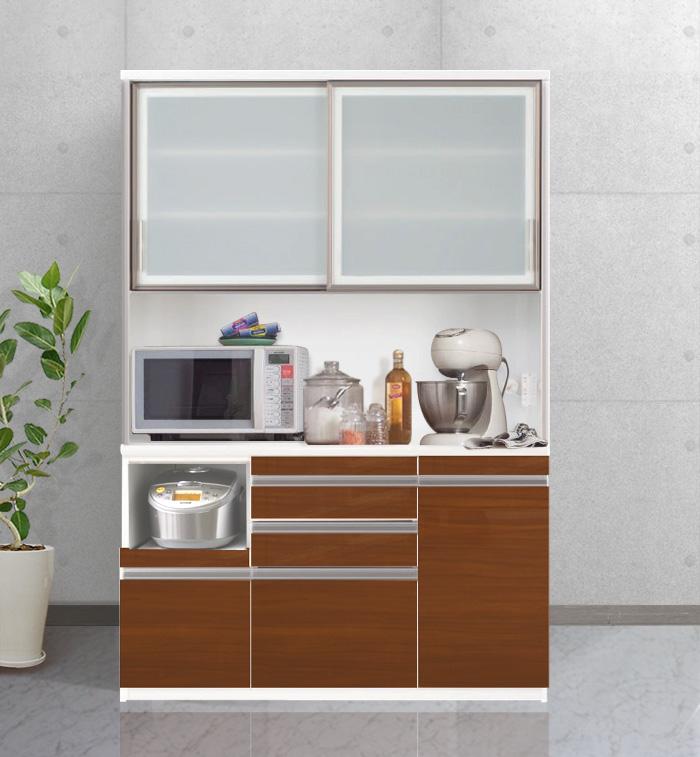 キッチンボード[エスコート]140cm幅 = 6色+色オーダー対応可能な国産モダンキッチンボード