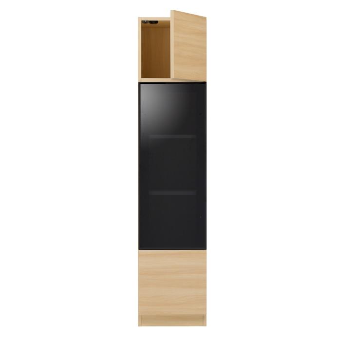 ガラスウォールラック・ガラス扉キャビネット[グラナー] 幅40cm = 全14色から選べます!