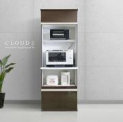 レンジ台 [クラウド2]70cm幅 ブラウン= 大型レンジ対応・家電5台収納可能[国産・完成家具]
