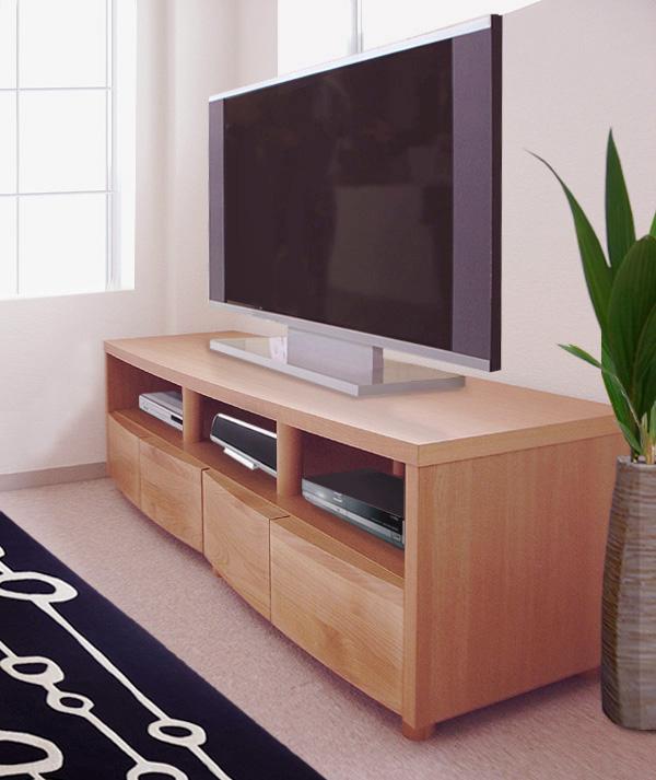 テレビ台 164cm幅 ナチュラル= 北欧風ナチュラルテイストのローボード[日本製・送料無料]
