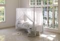 ベッド = 天蓋付きエレガントベッド 気分はお姫様!優美でかわいいヨーロピアンデザイン