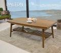 こたつテーブル[ダルトン]ウォールナット(脚折れ・棚付き)