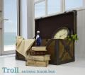 トランクボックス[トロール]=センターテーブルとしても使える味あるレトロ仕上げのBOX