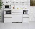 キッチンカウンター [レーン]179cm ダブルスライド棚・3分別ダストボックス