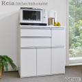 キッチンハイカウンター [レイア] 90cm幅 =女性が腰をかがめずラクラク使える高さ[国産品・送料無料] ◆ホワイト:完売◆