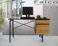 パソコンデスク [ファルコ] = 天然木アルダー材を使ったスタイリッシュデザインデスク[送料無料]