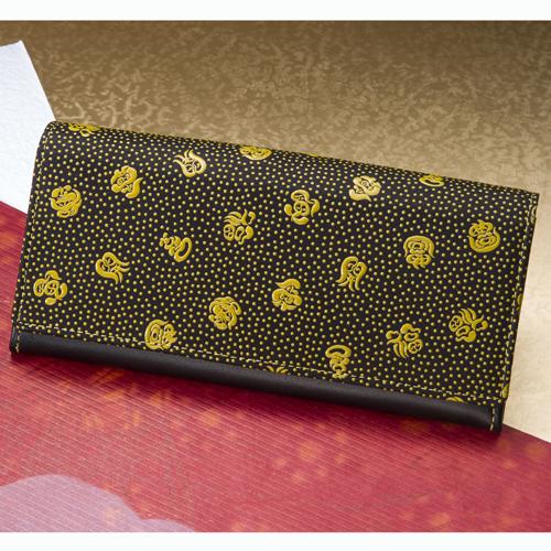 印伝七福字財布