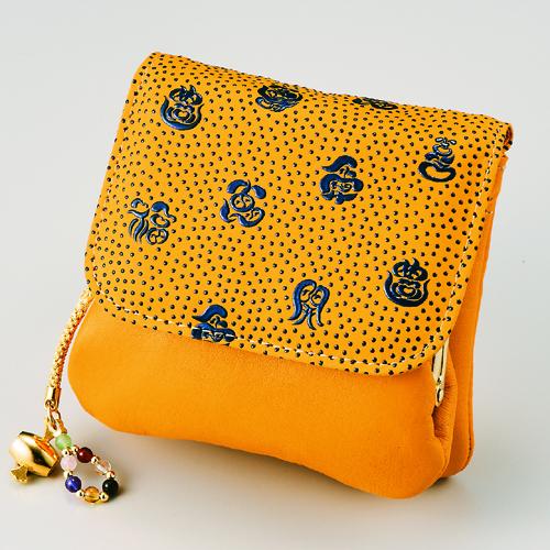 手のひら財布 黄色