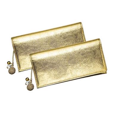 キラキラ財布 ゴールド2個セット