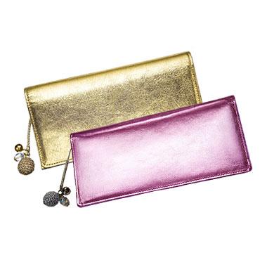 キラキラ財布 ピンク・ゴールドの2個セット