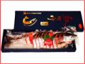 【送料無料】 【中辛】紅鮭切身1尾(真空パック化粧箱入り・約2kg〜2.2kg)