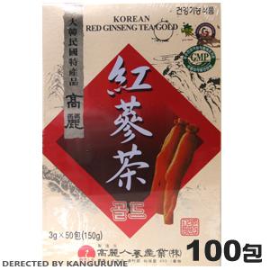 紅参茶「紙箱」100包入■韓国食品■0879