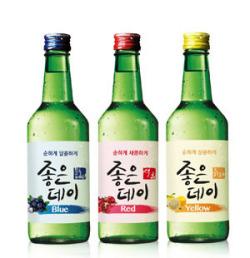 『ザクロ・ブルーベリー・ゆず』ジョウンデイ焼酎360ml■韓国食品■ 0145