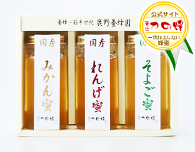 【蜂蜜ギフト】国産蜂蜜ギフト250g×3本セット