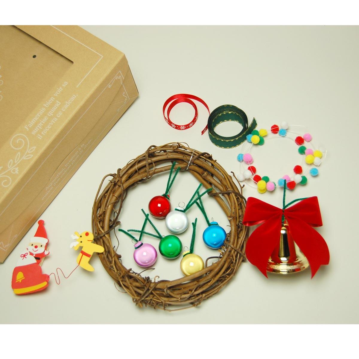 クリスマスリース 製作キット【クリスマス】14