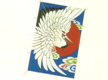 ジャンボ角凧(鶴柄)