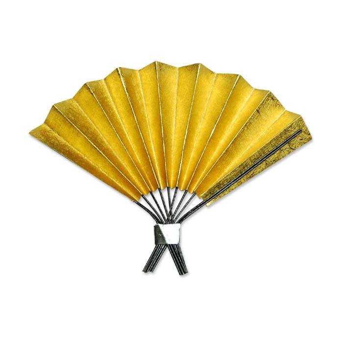 小さい金扇子・紙製 【お正月】飾り製作などに