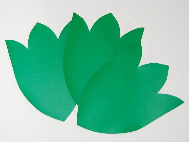 さんさ花笠用ビニール製「葉」3枚セット