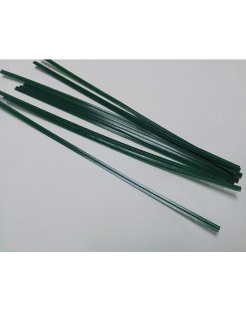 ビニタイ 「装飾結束用」 緑色18cm 10本