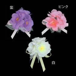 フラワー3輪コサージュ1個 【徽章】