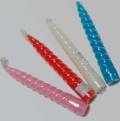 スパイラルキャンドル 6インチ赤・白・ピンク・黄・青