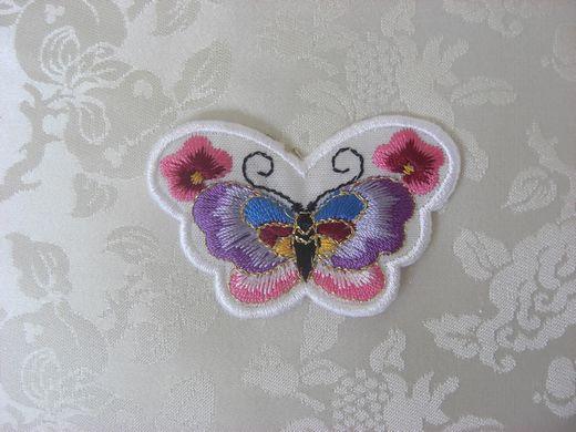 韓国刺繍【蝶(白-2):012】