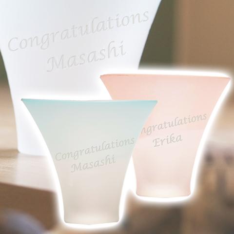 結婚式でのご両親への贈り物や結婚祝いのプレゼントなどに名入れ富士山グラス ペアタンブラー