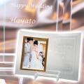 結婚式でのご両親へのプレゼントなどに名入れフォトフレーム L版用