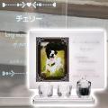 メモリアルクリスタル アンティーク 手元供養+仏器・茶湯器セット