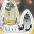 メモリアルクリスタル コーン クリア PHOT用 手元供養+仏器・茶湯器セット