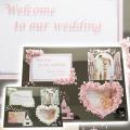 結婚祝いやウェルカムボードにフォトフレーム3ウインドウ レクタングル