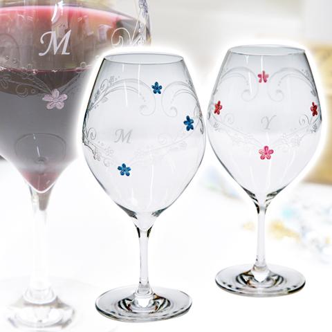 上質なブライダルギフトにペアワイングラス with LOVE