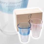 結婚念日にはペアセットのビアグラス!泡立ちぐらす 名入れ麦酒ギフトセット