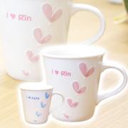 祖母への贈り物としても人気 OVALハートマグカップ