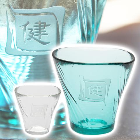 祖父母への贈り物などに名入れ 耐熱日本酒グラス