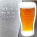 きらめき名入れビアグラスはご両親への還暦祝いや祖父母への記念品に
