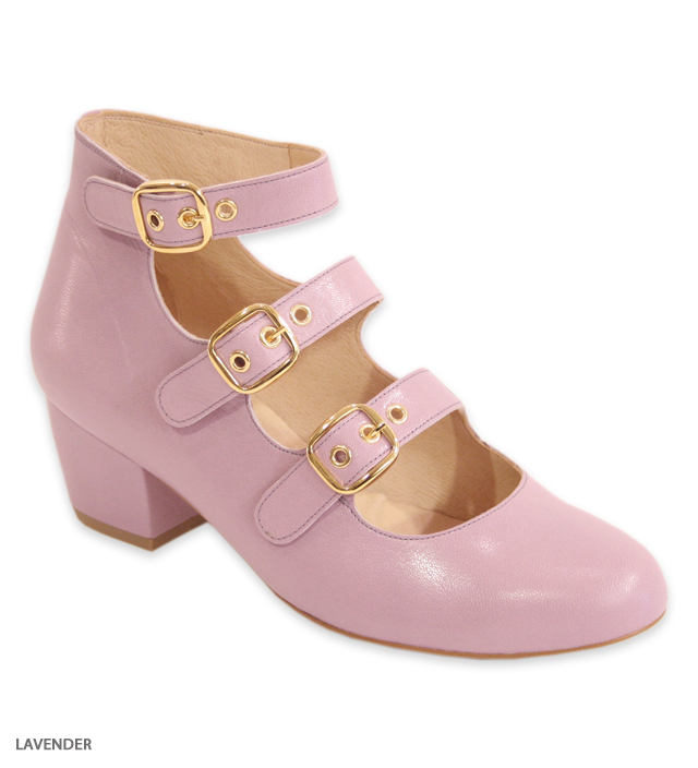 DANCE triple strap shoes