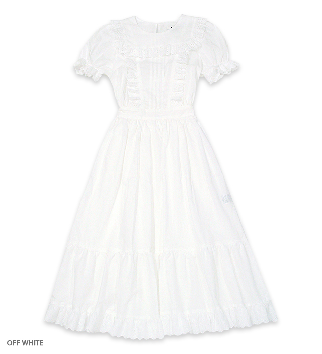 HANGING ROCK puff dress / OFF WHITE