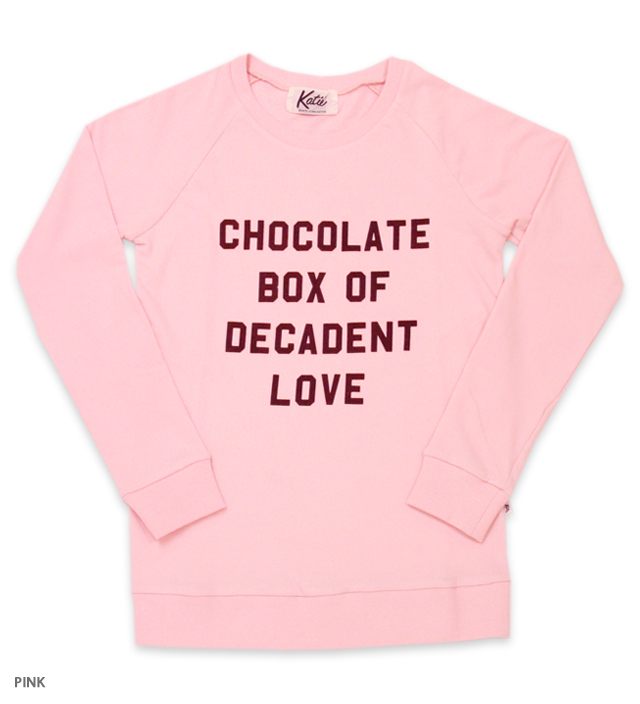 CHOCOLATE LOVE crew neck